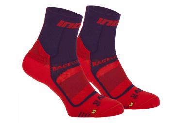 Calcetin Inov 8 Race Elite Pro  2 Pares  Purpura Rojo Unisex 36 40