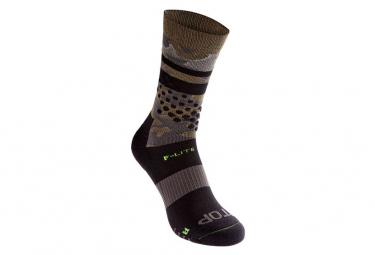 Inov 8 F Lite Crew Sock Volver Khaki Unisex 40 43
