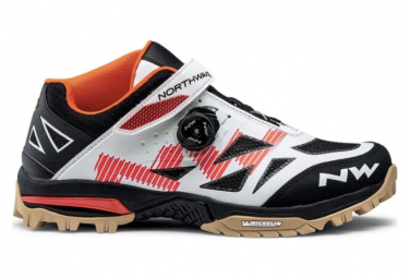 Northwave Enduro Mid MTB Schuhe Weiß / Orange