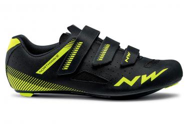 Northwave Core Road Schuhe Schwarz / Neongelb
