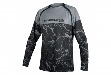 Endura MT500 Langarm MTB Jersey Grau Marmor