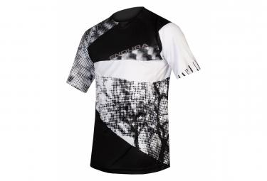 Endura SingleTrack Black / White Short Sleeve MTB Jersey