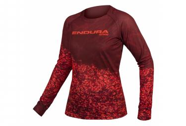 Maillot MTB de manga larga para mujer Endura MT500 W Rojo
