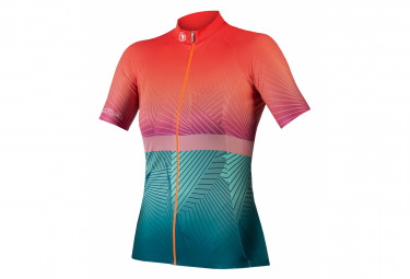 V lo Women's Short Sleeve Jersey Endura Lines Sunrise