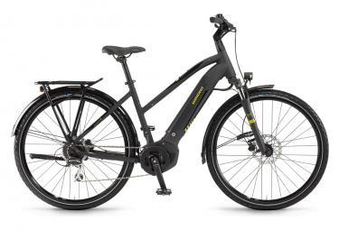 Bicicleta Híbrida Eléctrica Winora Yucatan i8 Ladies 700 Noir / Jaune