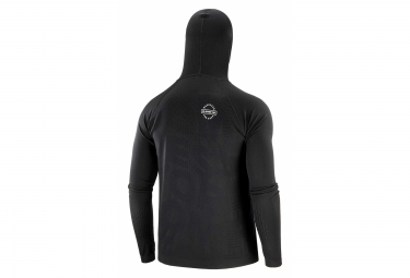 Sweat à capuche Compressport 3D Thermo Seamless Black Edition 2020 Noir