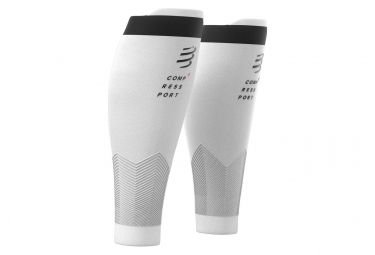 Pair of Compressport R2 v2 Compression Sleeves White