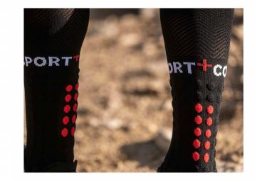 Paire de Chaussettes de Compression Compressport Full Socks Run Noir