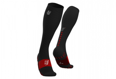 Calcetines Compressport Full Socks Recovery - Noir / Rouge