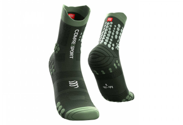 Paire de Chaussettes Compressport Pro Racing Socks v3.0 Trail Vert