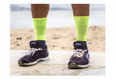 Calcetines Compressport Mid Compression Socks - Jaune / Bleu