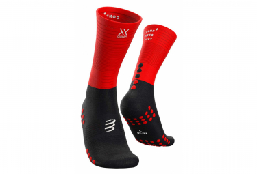 Compressport Mid Compression Socks Black Red