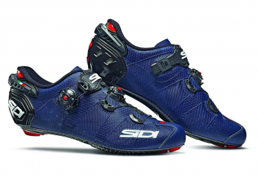 Pair of Sidi Wire 2 Carbon Shoes Blue Matt