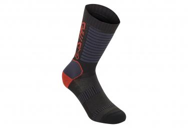 Alpinestars Paragon Lite Socks 19 Black Bright Red  41 43 1 2