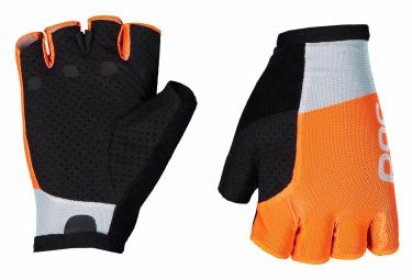 Guanti corti Poc Essential Road Light Granite Grey / Zink Orange