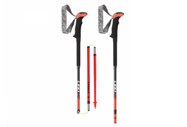 Paire de Bâtons de Randonnée Leki Micro Stick Carbon Orange Noir