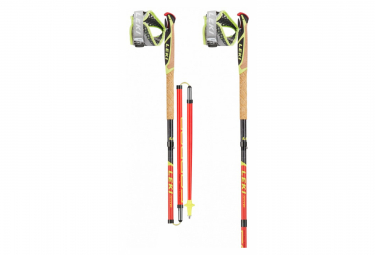 Trail Running Poles Leki Micro Trail Pro Red