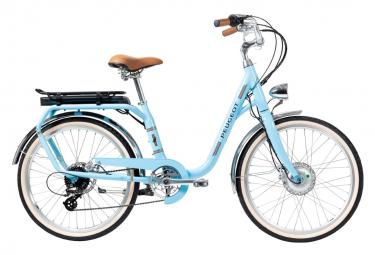 Vélo de Ville Électrique Peugeot eLC01 Shimano Tourney/Altus 8V 400 Bleu 2020