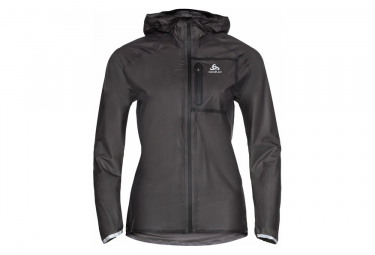 Odlo Zeroweight Dual Dry Chaqueta Impermeable Negro Mujer Xs