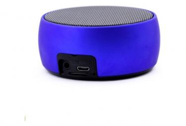 Enceinte bluetooth sans fil 5W en métal-Bleu