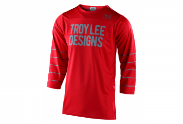 El Maillot Troy Lee Designs Ruckus Con Mangas 3 4 Presenta Rojo Plata Azul M