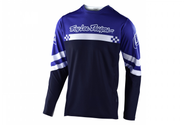 Maillot manches longues Troy Lee Designs Sprint Bleu royal blanc usine