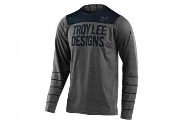 Troy Lee Designs Skyline Langarm Jersey Dunkelgrau