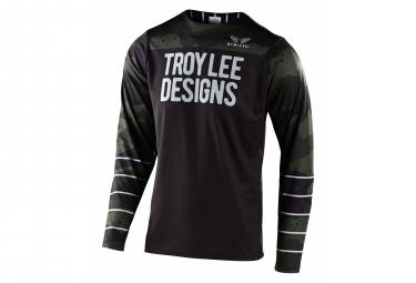Troy Lee Designs Skyline Camo Long Sleeve Jersey green black