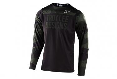 Maglia manica lunga Skyline Camo Troy Lee Designs verde nero