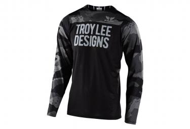 Maglia Troy Lee Designs Skyline Camo manica lunga grigia nera