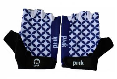 Paire de gants courts Pi:ik - Mosai:ik bleu