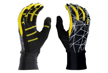 Pair of Gloves Nathan HyperNight Black / Yellow