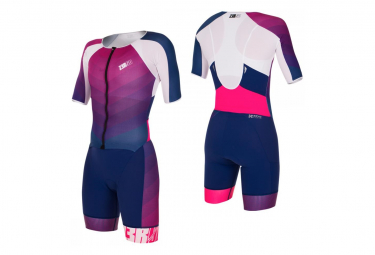 TT Suit Zerod racer Dark Blue Pink Femme