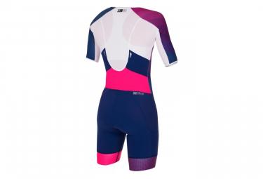 Combinaison Trifonction Zerod racer Dark Blue Pink Femme