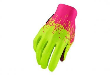 Supacaz SupaG Long Glove Neon Pink Neon Yellow