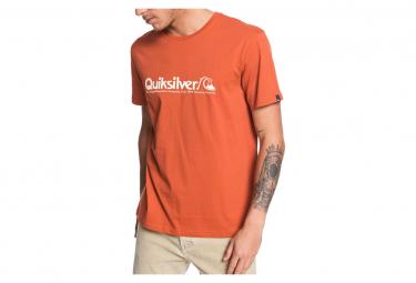 T-Shirt Orange Homme Quiksilver MODERN LEGENDS