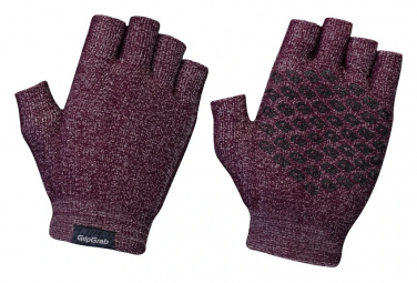 Gants courts en tricot GripGrab Freedom Rouge