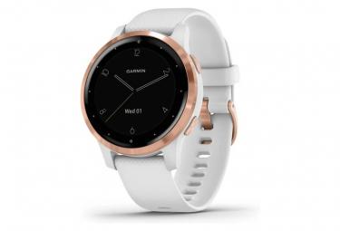 Reloj GPS Garmin v voactive 4s Oro rosa con banda de silicona blanca