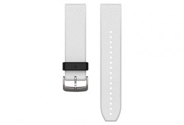 Image of Bracelet silicone garmin quickfit 20 mm blanc noir