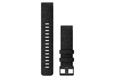 Pulsera de nylon QuickFit de 22 mm de Garmin, negro y calentado