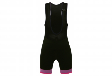 Santini GS Kids Bib Shorts Black Pink