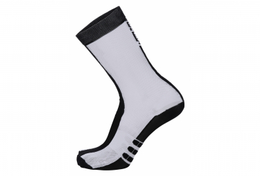 Calcetines Santini Classe Blanco Negro 36 39