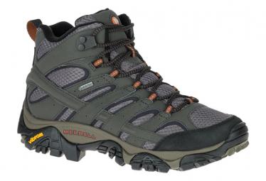 Zapatillas de senderismo merrell moab 2 mid gtx mujer gris 38
