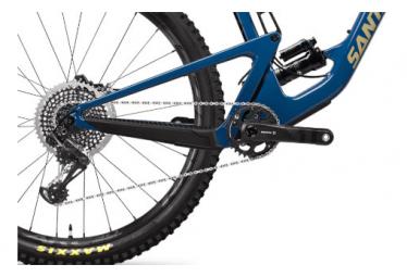 Santa Cruz Hightower X01 CC 29 '' Mountainbike mit Vollfederung | Sram X01 Eagle 12V | Highland Blue & Desert | 2020