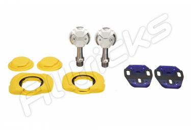 Pédales Speedplay Zéro Titanium Blanc (Cales Walkable)
