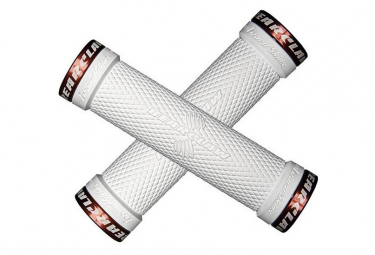 Poignées - Lock-On Bearclaw Grip - LIZARD SKINS - (Blanc/Rouge)
