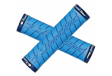 Poignées - Lock-On Logo Grip - Noir - LIZARD SKINS - (Bleu)