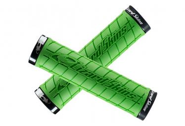 Poignées - Lock-On Logo Grip - Noir - LIZARD SKINS - (Vert)