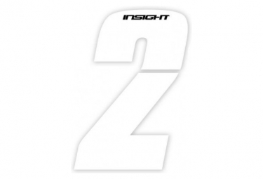 Numéros INSIGHT 7.5cm blanc - INSIGHT - (Blanc)