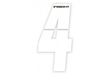 Numéros INSIGHT plaque de cadre 7.5cm blanc - INSIGHT - (Blanc)